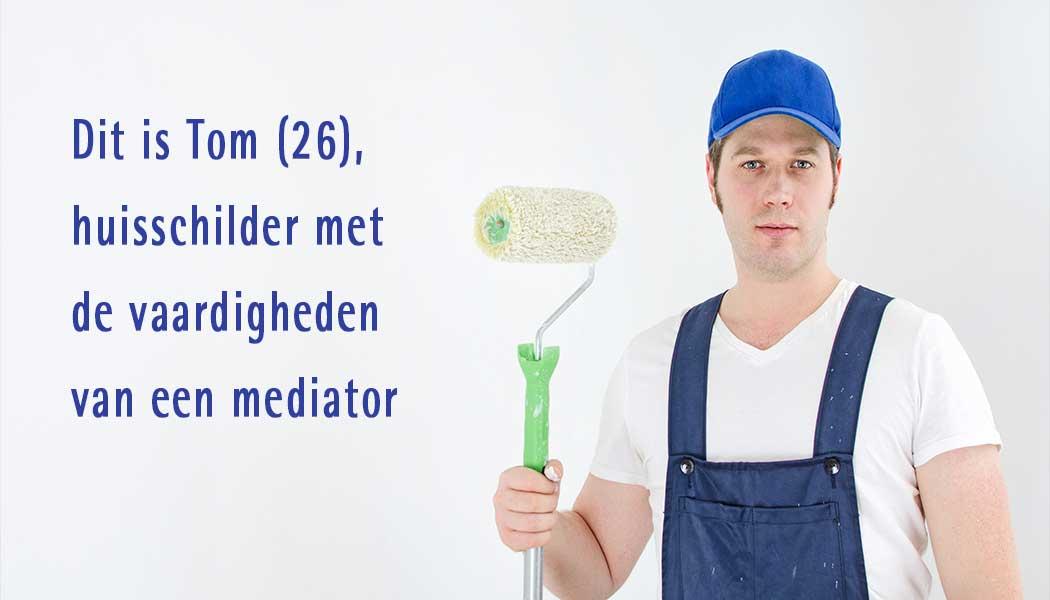 Tom (26), huisschilder met de vaardigheden van een mediator