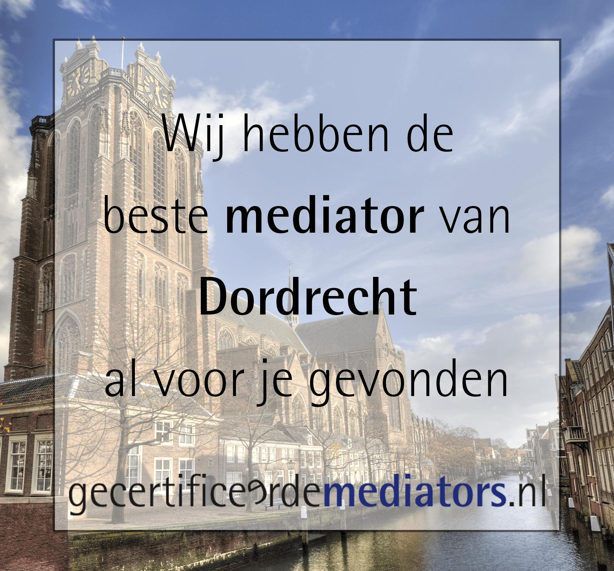 mediator dordrecht echtscheiding