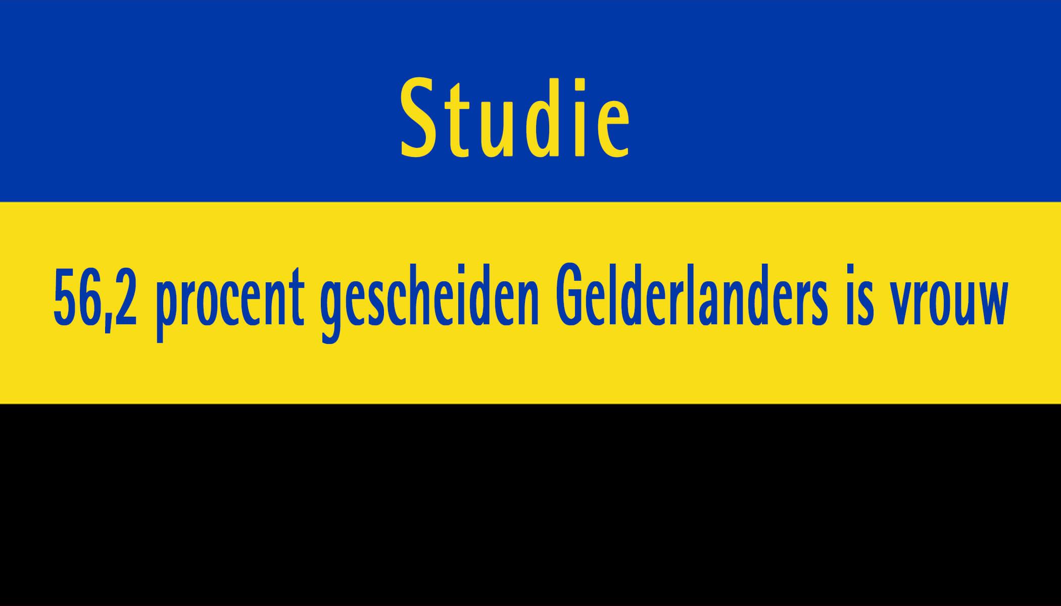 Studie: 56,2 procent gescheiden Gelderlanders is vrouw