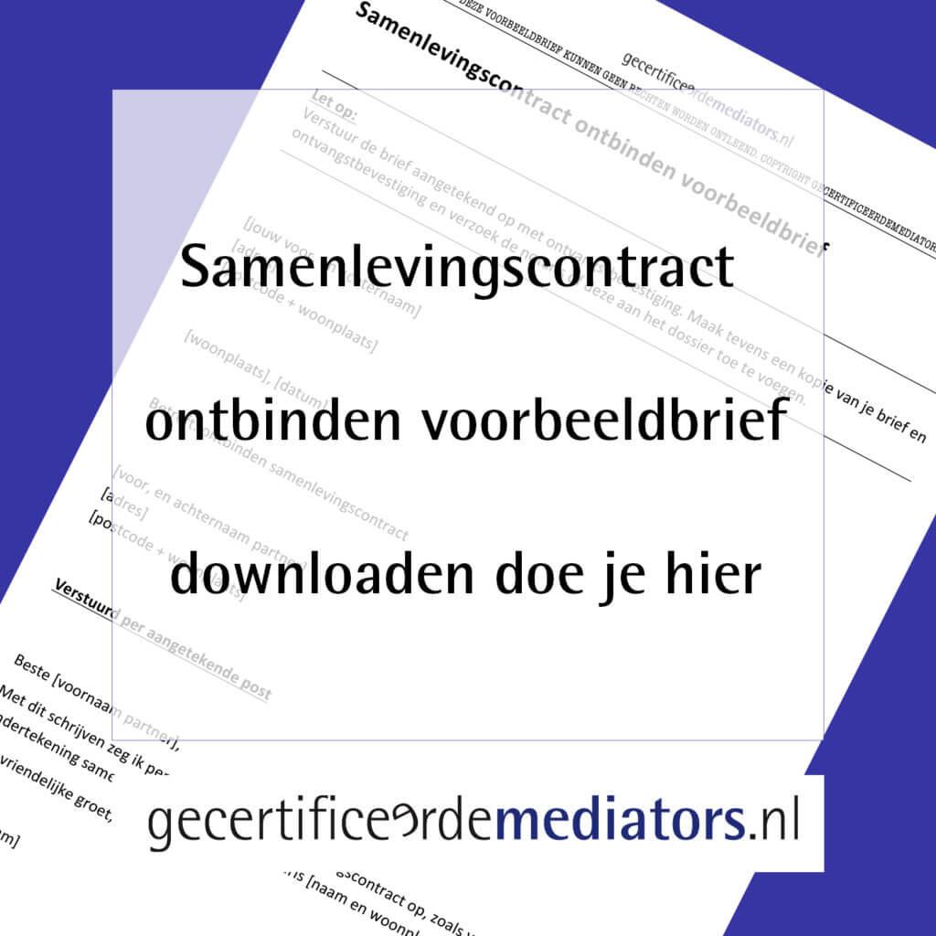 samenlevingscontract ontbinden voorbeeldbrief downloaden word