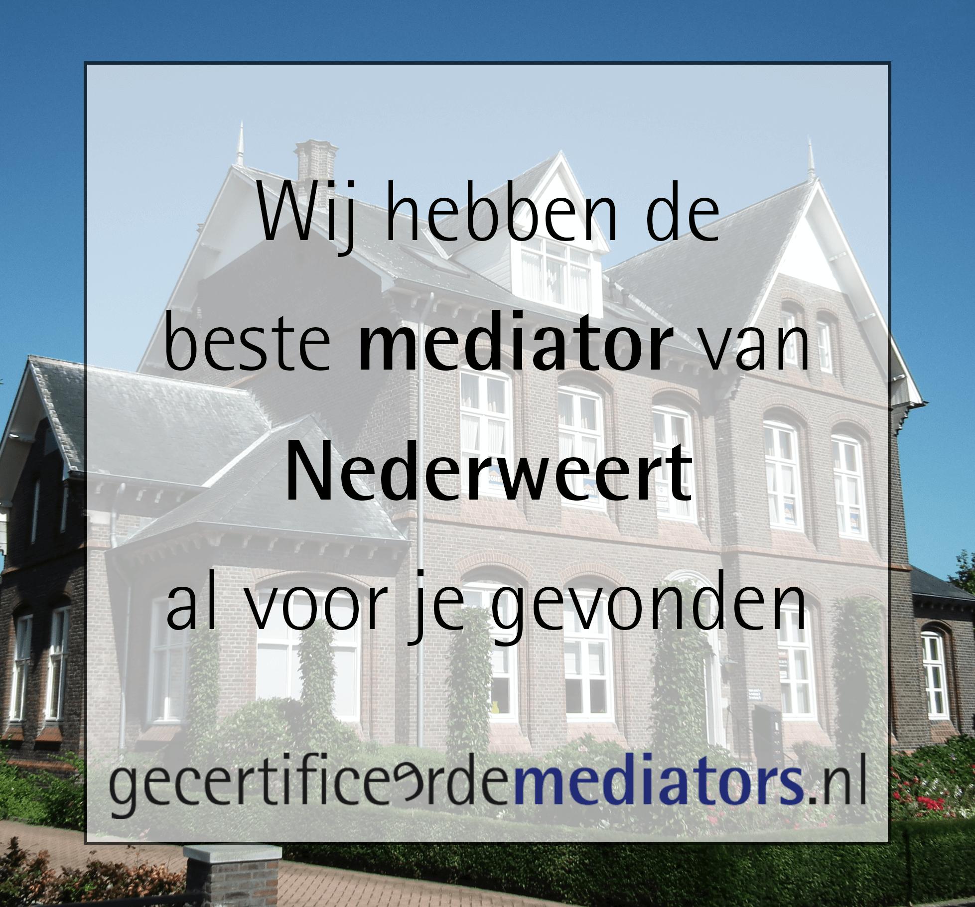 mediator nederweert echtscheiding
